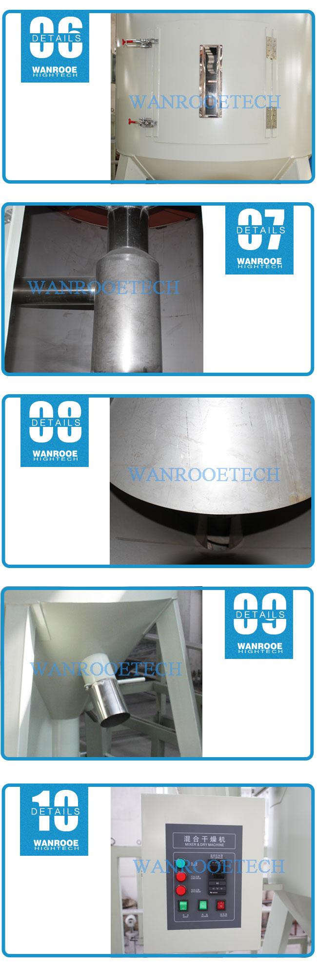Plastic Mixer Dryer, Plastic Masterbatch Mixer Machine,Vertical Plastic Granules Mixing Dryer, Lift Drying Mixer