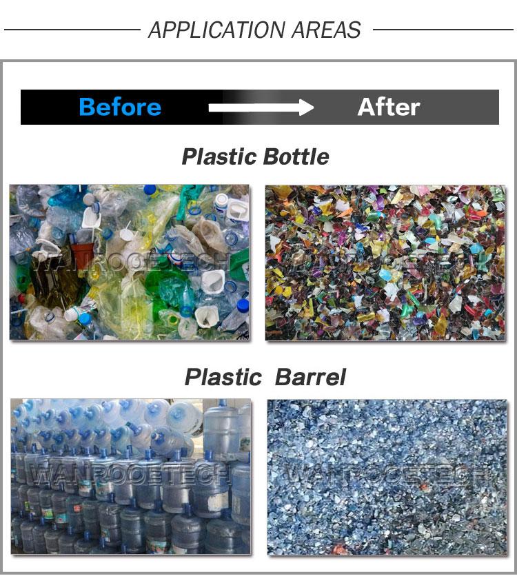 Plastic Bottle Crushing Machine, PET Granulator, HDPE Granulator, PC Granulator, PS Granulator,Plastic Drum Granulator